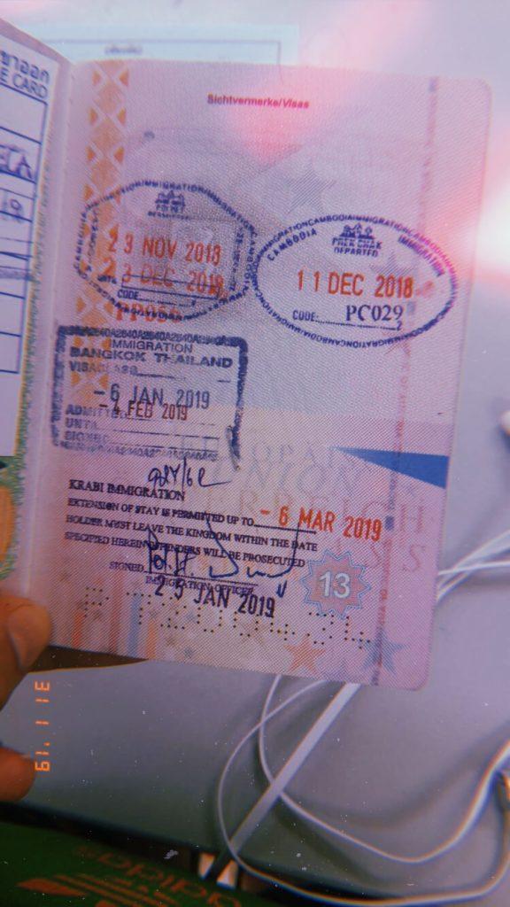 Stempel der Visa-Extension